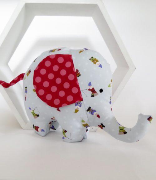 Gnome handmade soft toy elephant