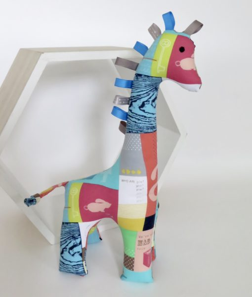 Handmade soft toy giraffe