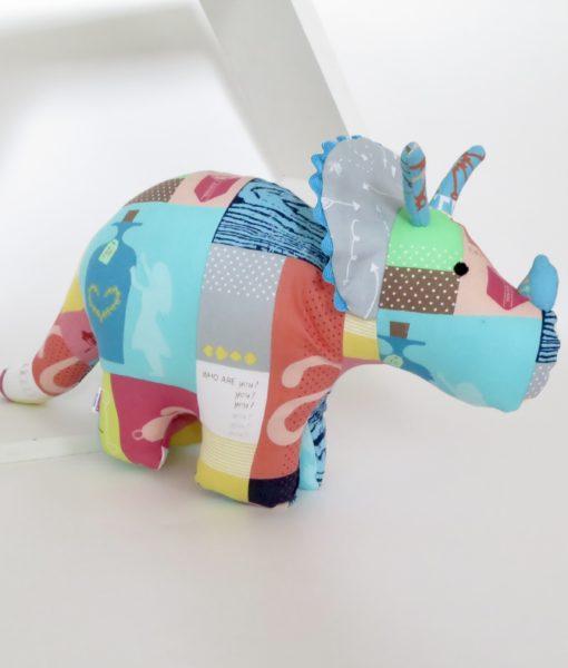 Handmade soft toy dinosaur