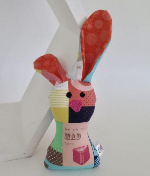Handmade soft toy bunny rattle